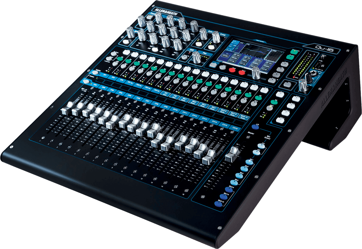 Location console de mixage num rique allen heath qu 16 paca location de syst me vid o et de - Console de mixage numerique ...